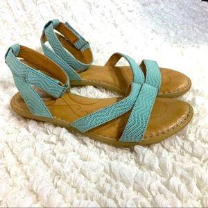 NEW Born August Sandals Aqua Green Ankle Strap 7